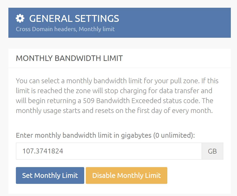 CDN Bandwidth Overdraft Protection