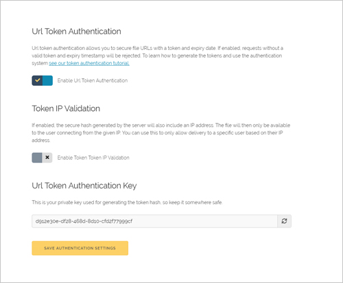 Secure CDN URL Token Authentication