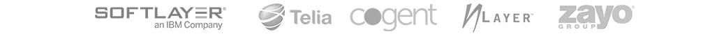 Network Partners - Softlayer, Telia, Cogent, NLayer, Zayo